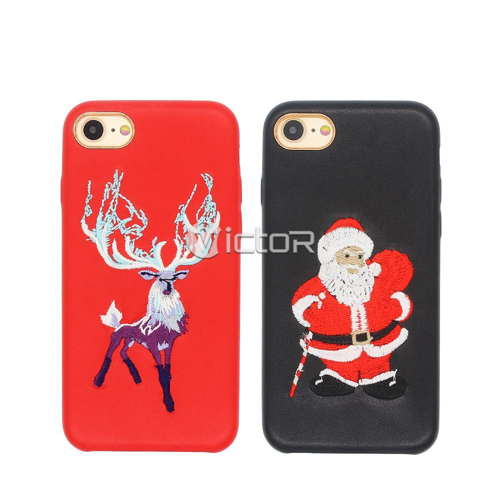 christmas phone case - slim leather case - iphone 7 leather case - (2)