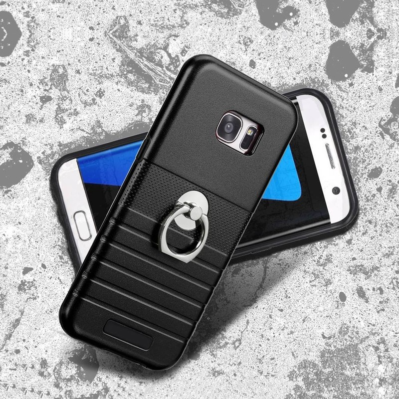 Protective Samsung S7 Edge Combo Phone Case with Ring