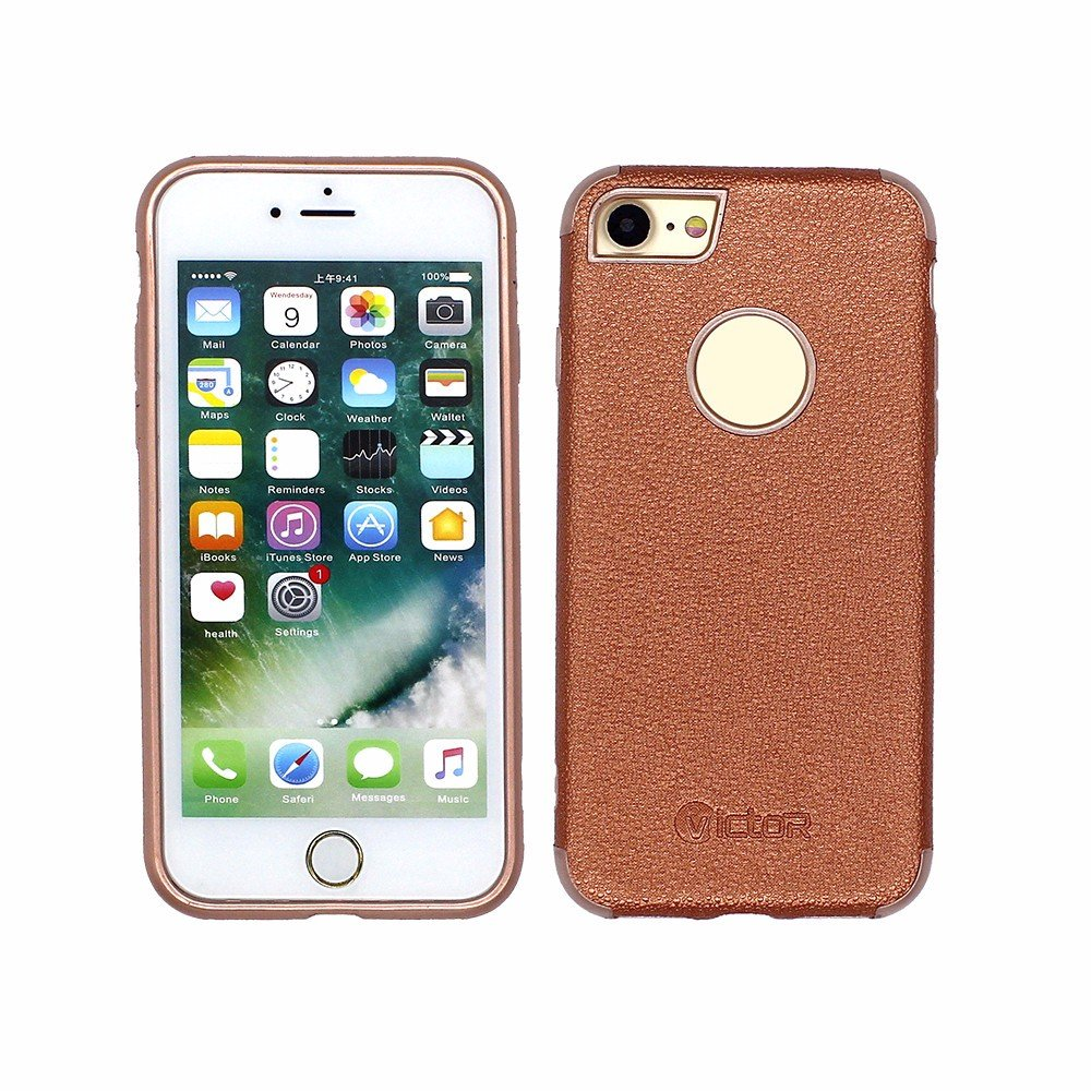 Victor Customizable Luxury iPhone 7 Leather Phone Cases