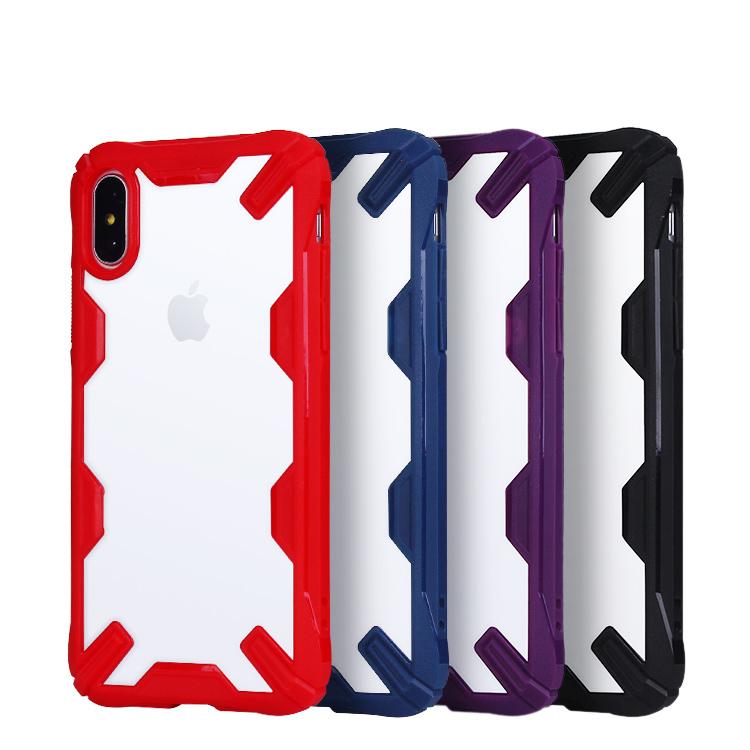Carcasa transparente coloreada con forma de carro para el iPhone de Apple X