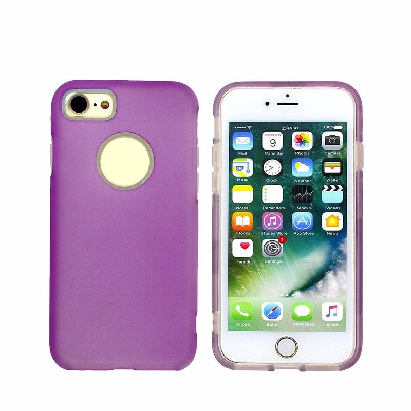 Half Clear PC+TPU Combo Phone Case for iPhone 6