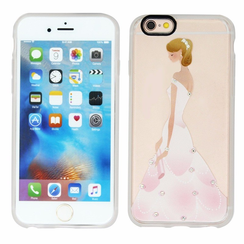 Victor Popular Pretty Girl Theme Printing iPhone 6 Phone Protector Cases