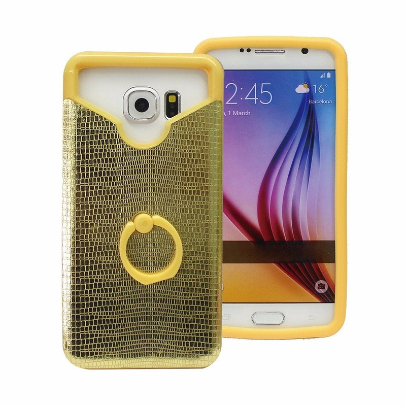 Shinny Leather Back Silicone Case for Smartphones
