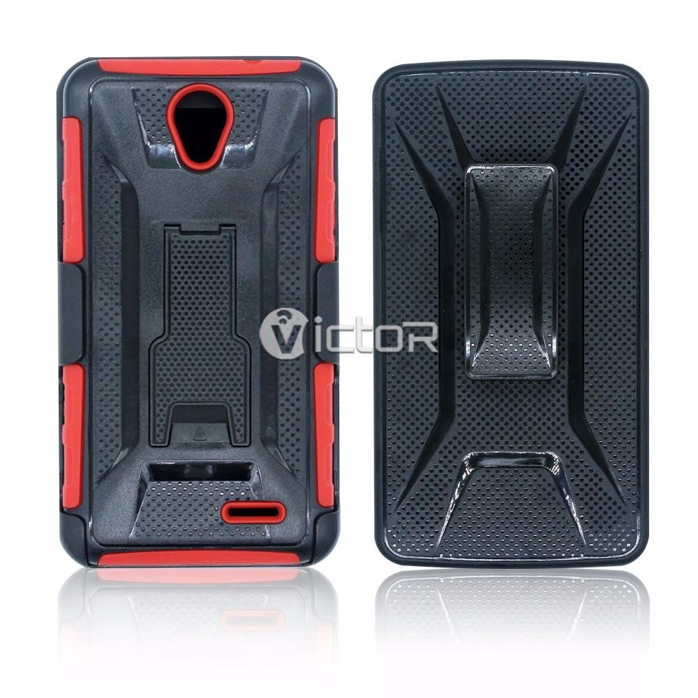 Victor All Around Protection ZTE Android Cell Phone Cases with Kickstands