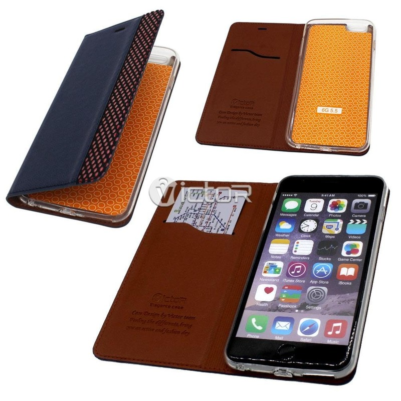 Victor PU Special Design Leather Case for iPhone 6 Plus