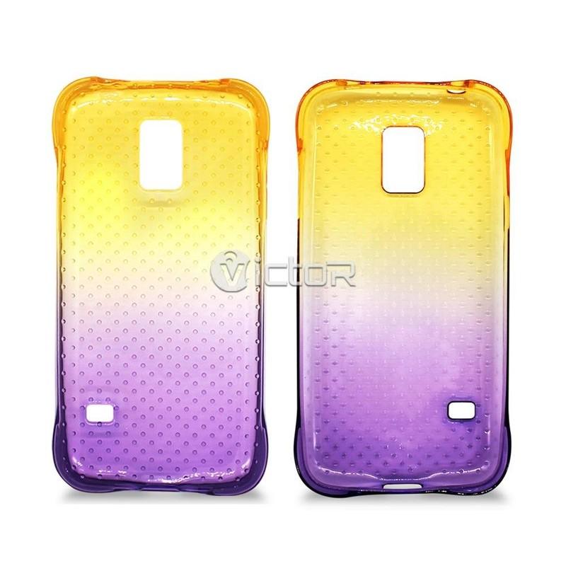 Victor VI-TPU-011 degradado Color a prueba de choques Slim de TPU para Samsung Galaxy S5 mini