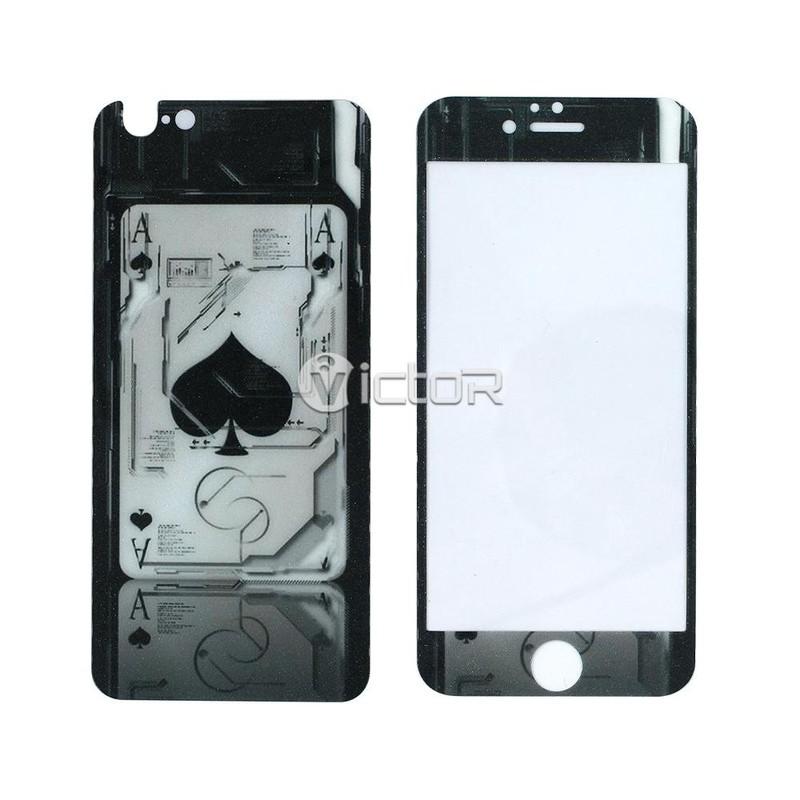 Victor VI-DISEÑO-FLIM-I6 diseño protector de pantalla de cristal protector (frente + trasero 2pcs)