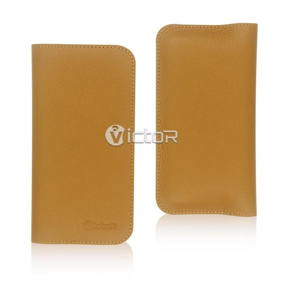 Victor VI-LC-X002 PU estuche de cuero de cartera Universal