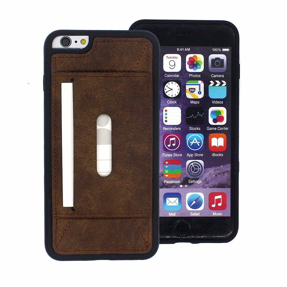 Wholesale Leather Case with Card Holders for iPhone 6 Plus