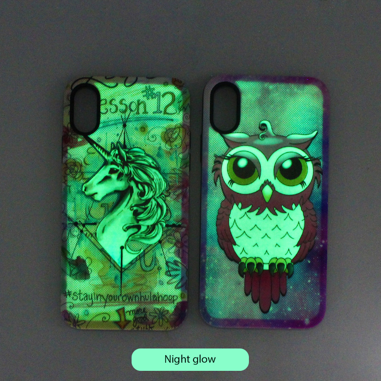 Hybrid Luminous Phone Case for iPhone XS Wholesale