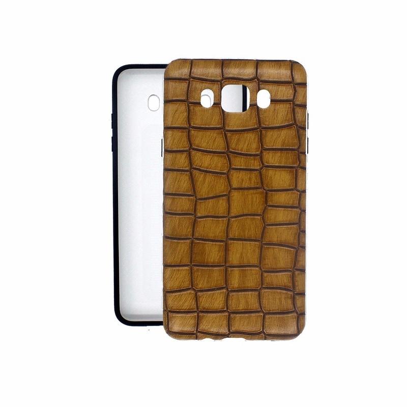 Caja de cuero de la piel de la corteza del árbol que siente para Samsung