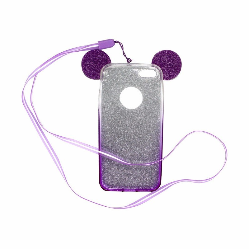 Victor Mickey Ear Glittering iPhone 5 Cell Phone Cases