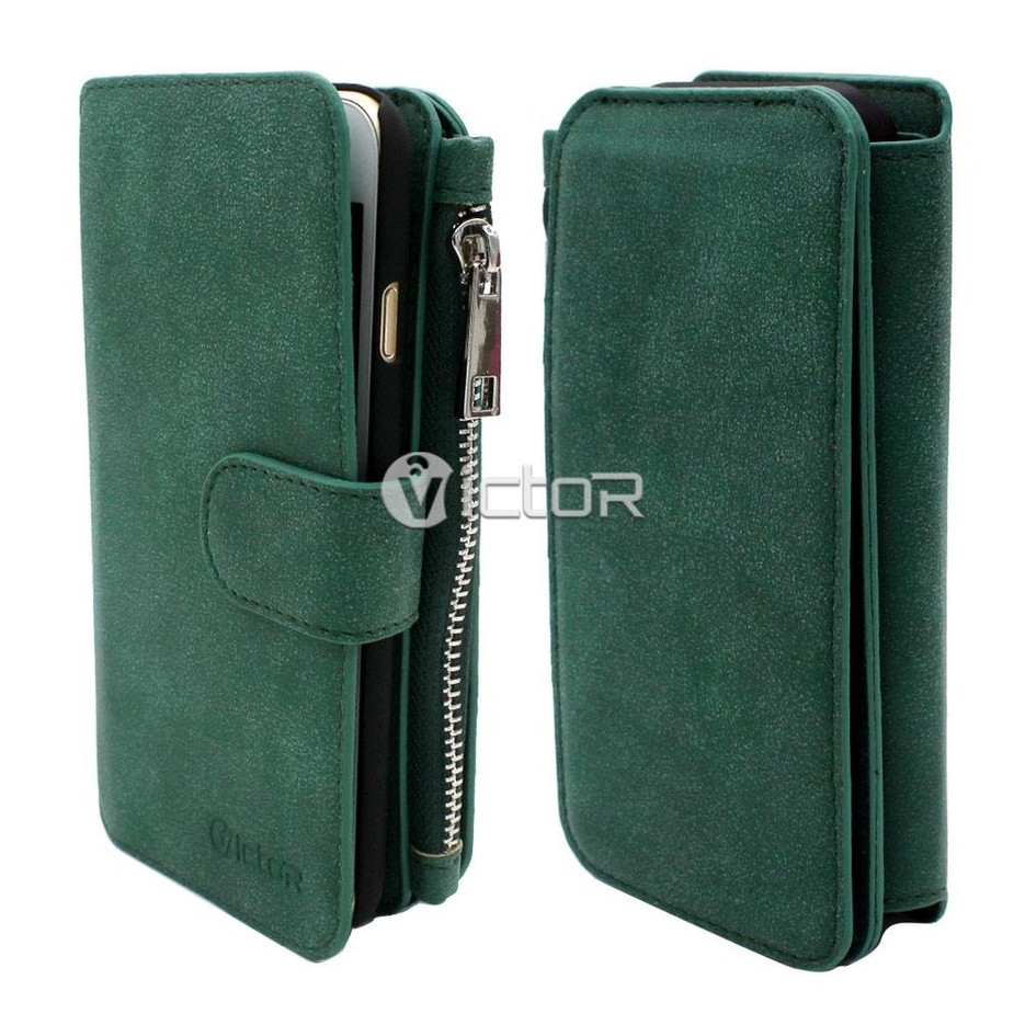 Victor  PU Multi Function Zipper Wallet Case for iPhone 6s