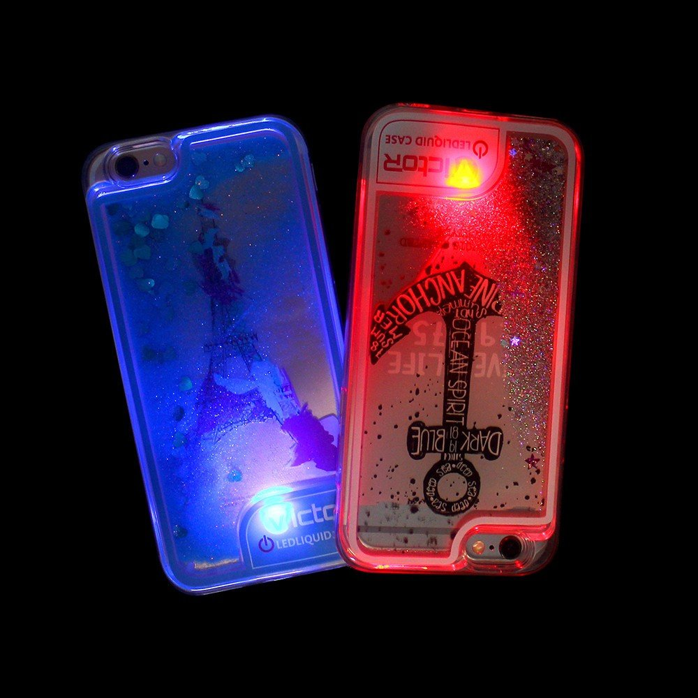 Victor TPU Quicksand Case for iPhone with LED Light