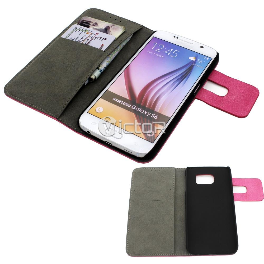Victor Multi Color Flip Phone Covers Cases for Samsung Galaxy S6 Edge
