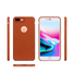 Grained Leather designed TPU case for IPhone 8 plus