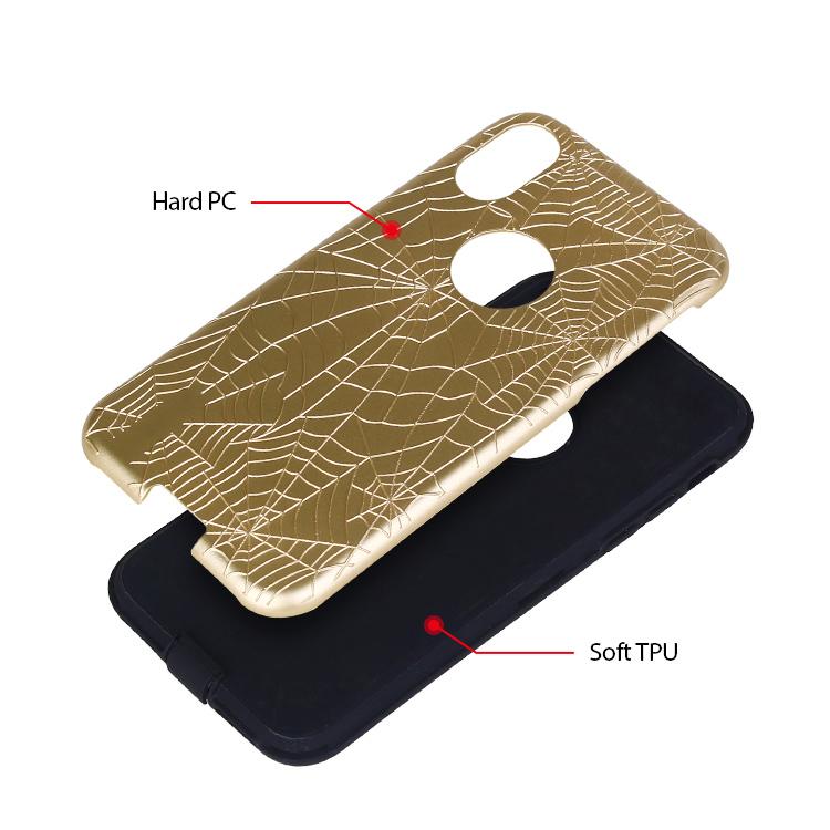 Spider Web Pattern Hybrid Phone Case Wholesale