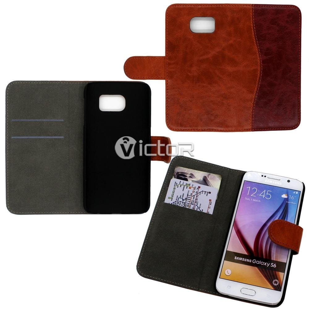 Victor PU Wallet Flip case for Samsung S5