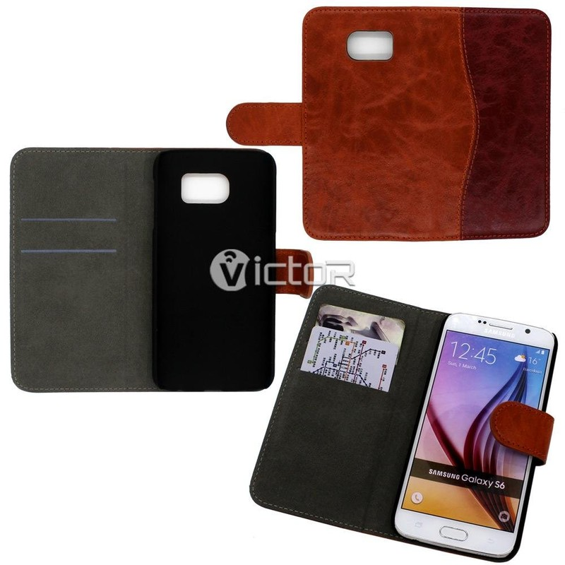 Victor PU Wallet Flip case for Samsung S5
