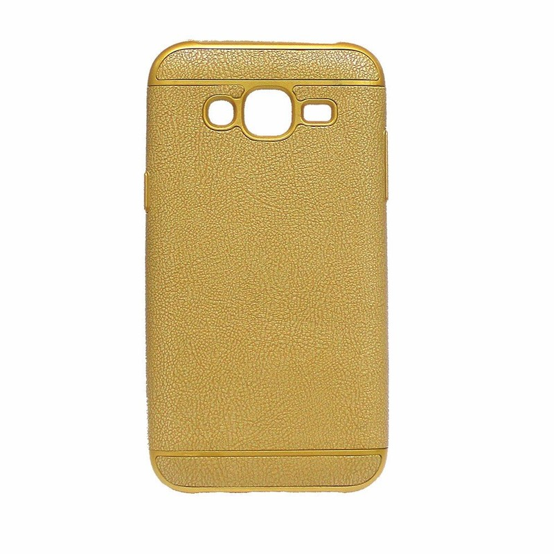 Paste Leather Golden TPU Case for Samsung