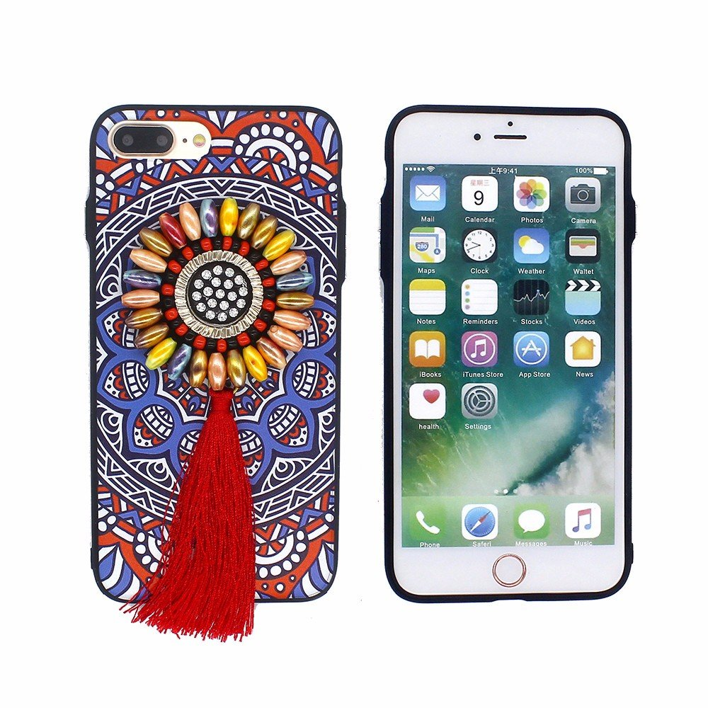 Bohemian Style Phone Case for iPhone 7 Plus with Handmade Bead