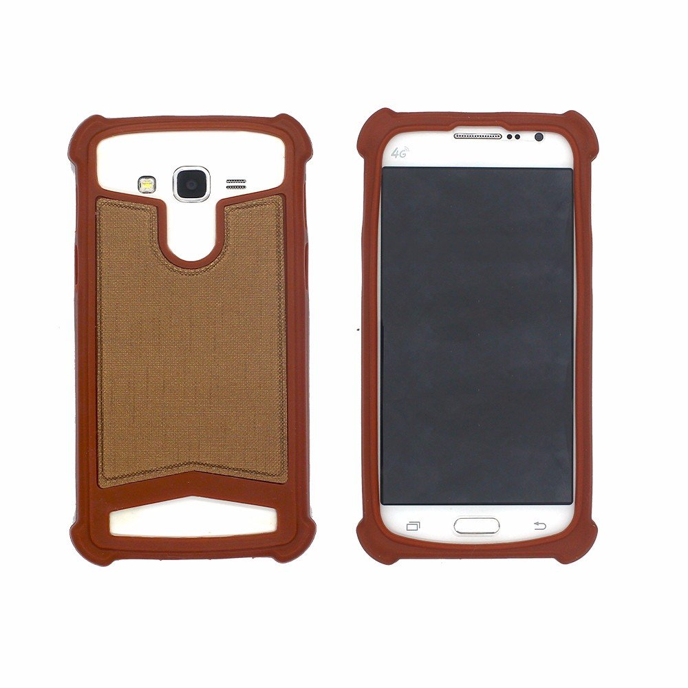 Paste Leather Universal Silicone Case