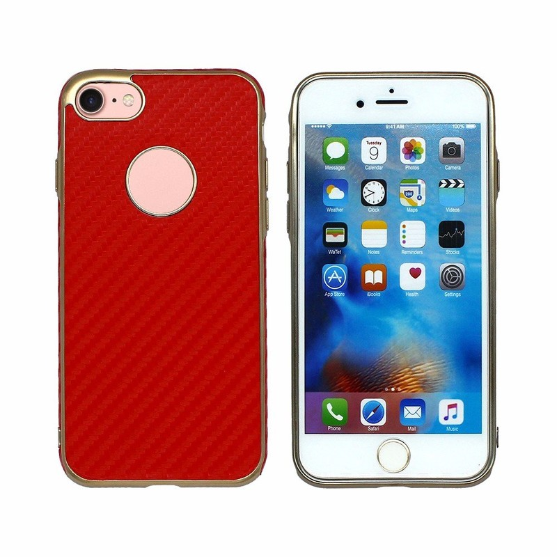 Victor Hot Leather Sticker TPU Case for iPhone 7