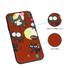 Custom UV Printing Pattern Leather Sticker iPhone Case