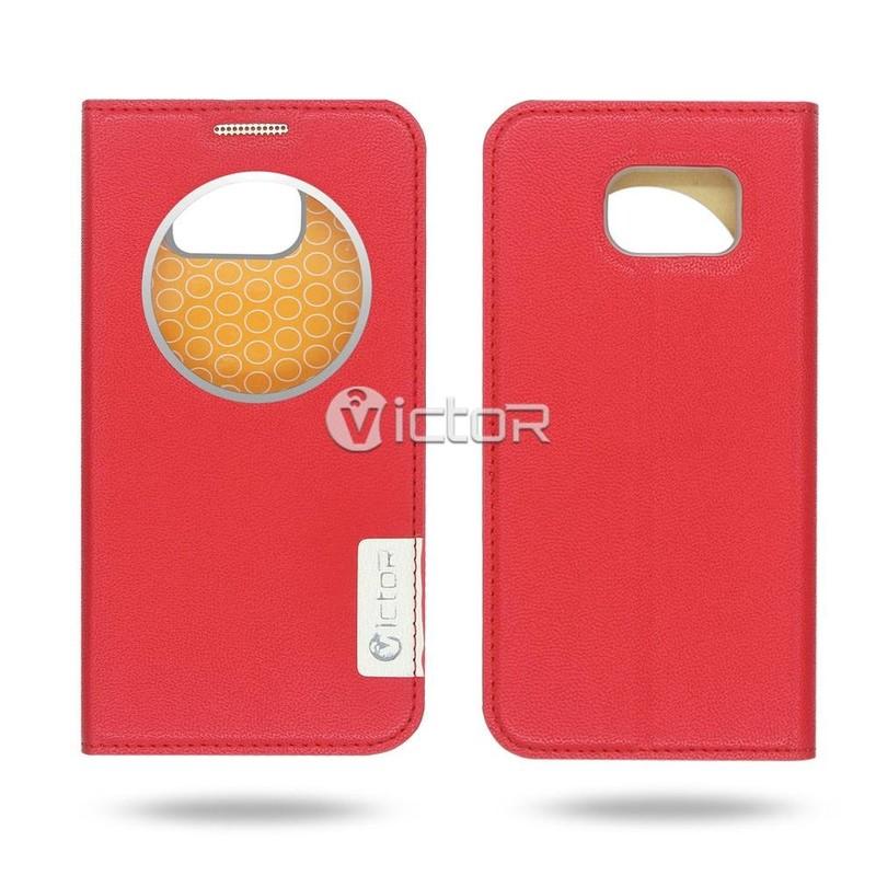 Victor VI-LC-160401 PU Smart Window Case for Samsung S7