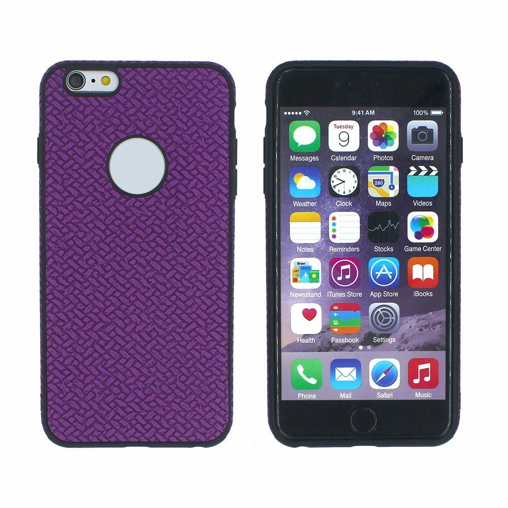Victor Leather Sticker 2 IN 1 TPU Case for iPhone 6 Plus