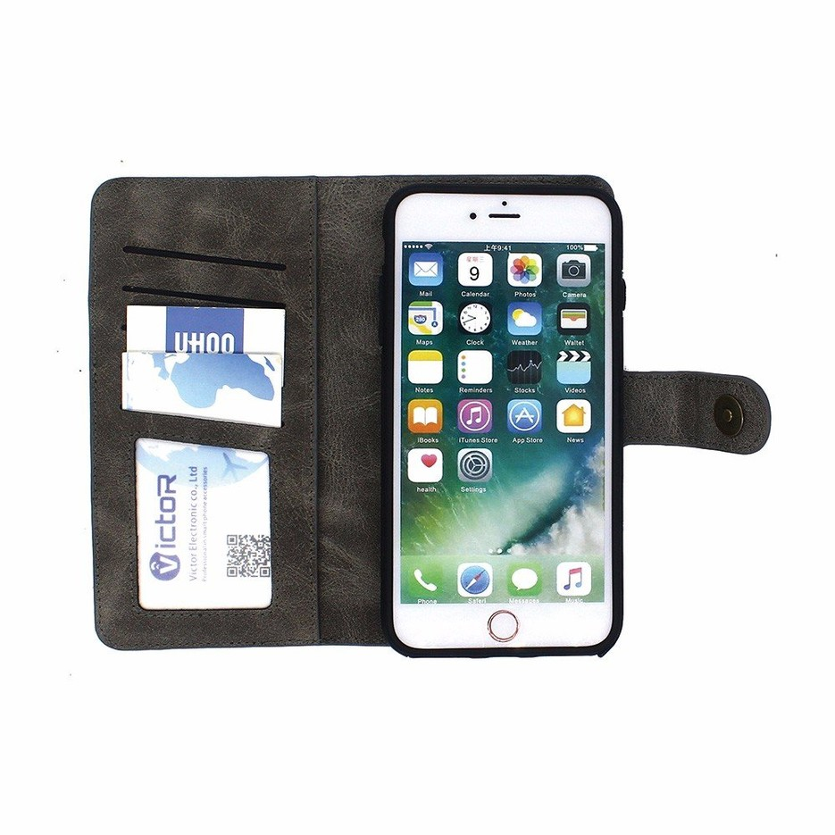 Wallet Leather Phone Case for iPhone 7 plus with Card Holder