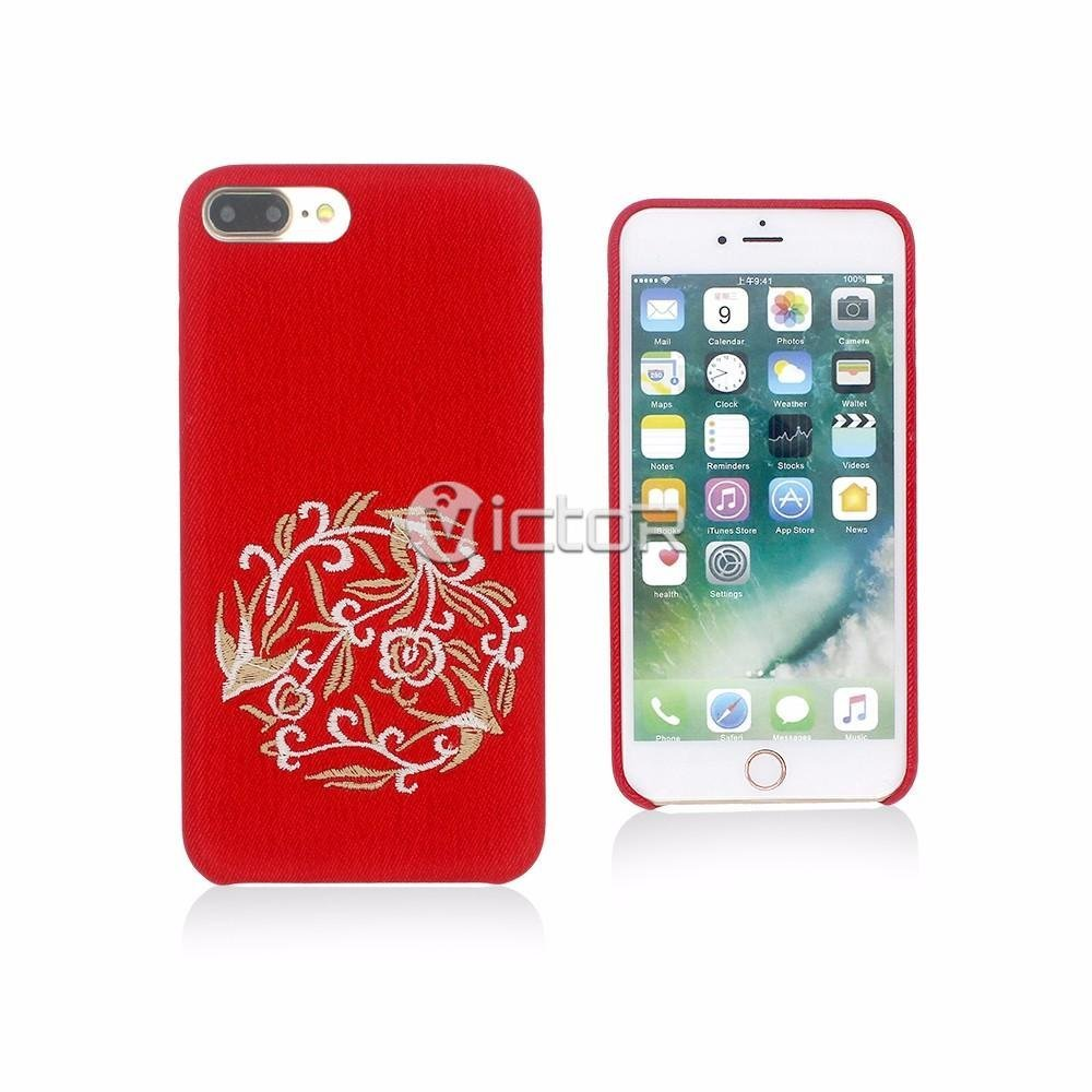 Victor Attractive Case for iPhone 7 Plus with Embroidered Back Cover