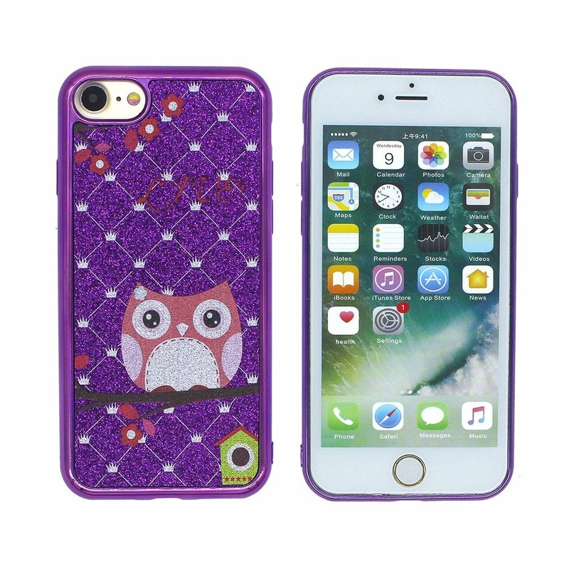 Victor TPU Shiny Electroplating Bumper Printing Phone Cases for iPhone 7