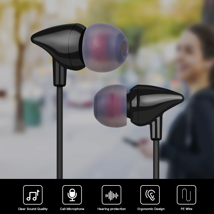 Wholesale in-ear Earphone with microphone