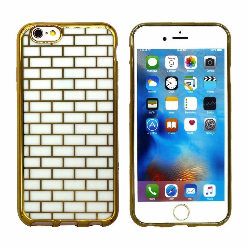 Victor Oro ladrillo TPU teléfono caso para el iPhone 6s