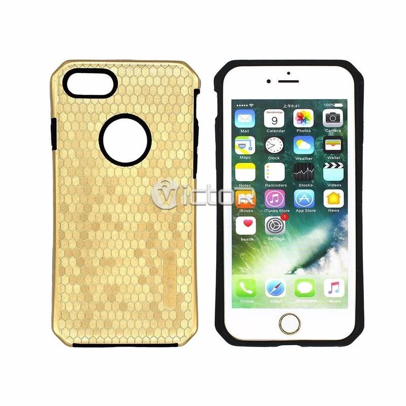 Victor 2 en 1 iPhone diseño de mosaico del panal 6 caja del teléfono para la venta
