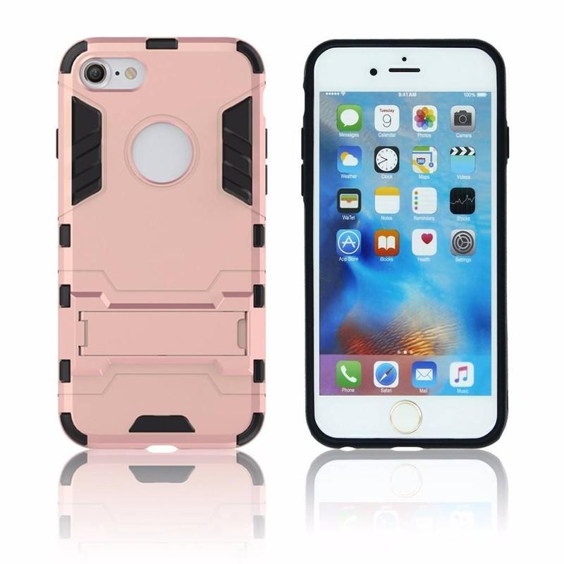 Caja combinada del hierro de Victor TPU PC 3in1 con Kickstand para el iPhone 7