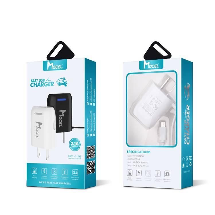 Cargador USB Rápido Mocel con Cable