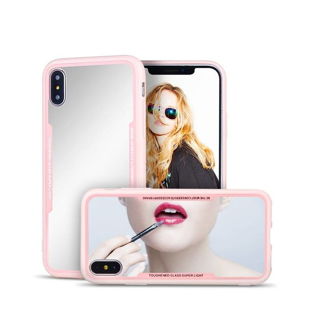 Mirror TPU PC Back Protect Case for iPhone X wholesale