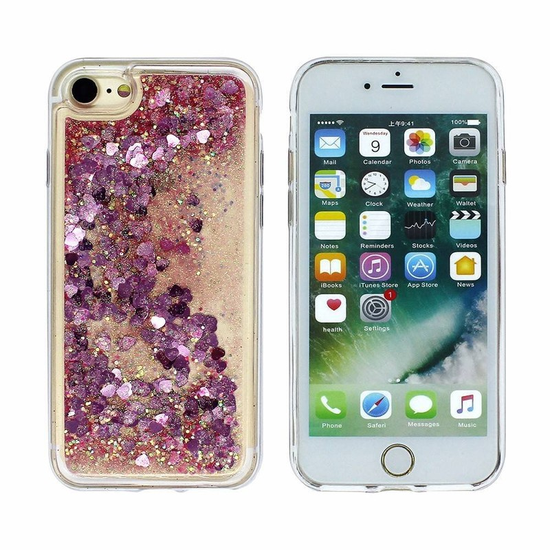 Victor OEM Printing Liquid Glitter Case for iPhone 7 Wholoesale