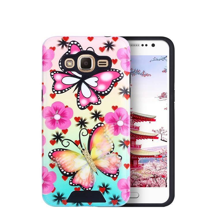Caja del teléfono del patrón de mariposa para Samsung J2 Prime