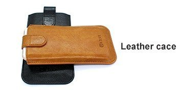 Leather and synthetic leather phone cases