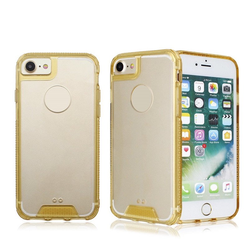 TPU Bumper Clear Acrylic Phone Case for iPhone 7