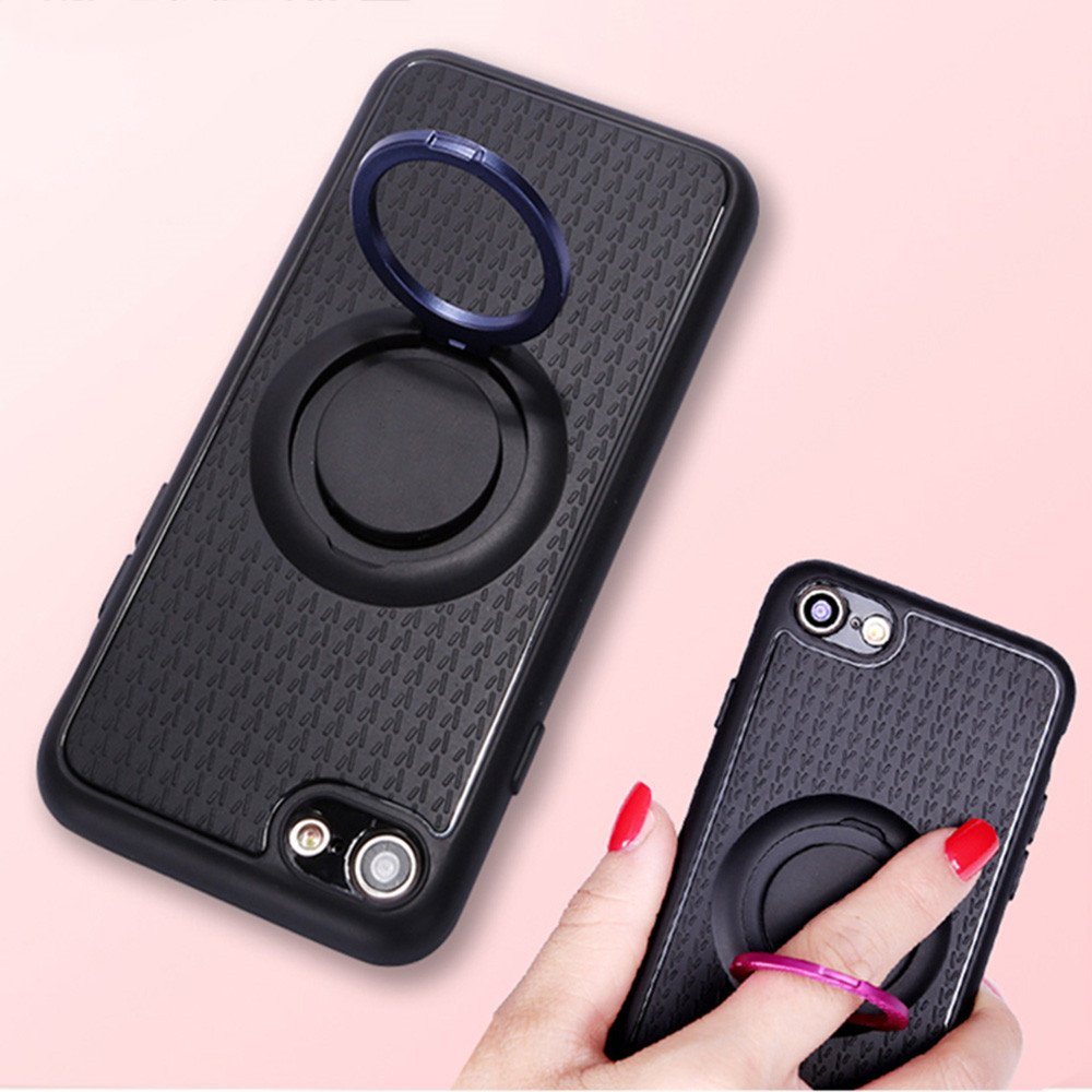 Car Friendly iPhone 7 Combo Case with Colorful Ring