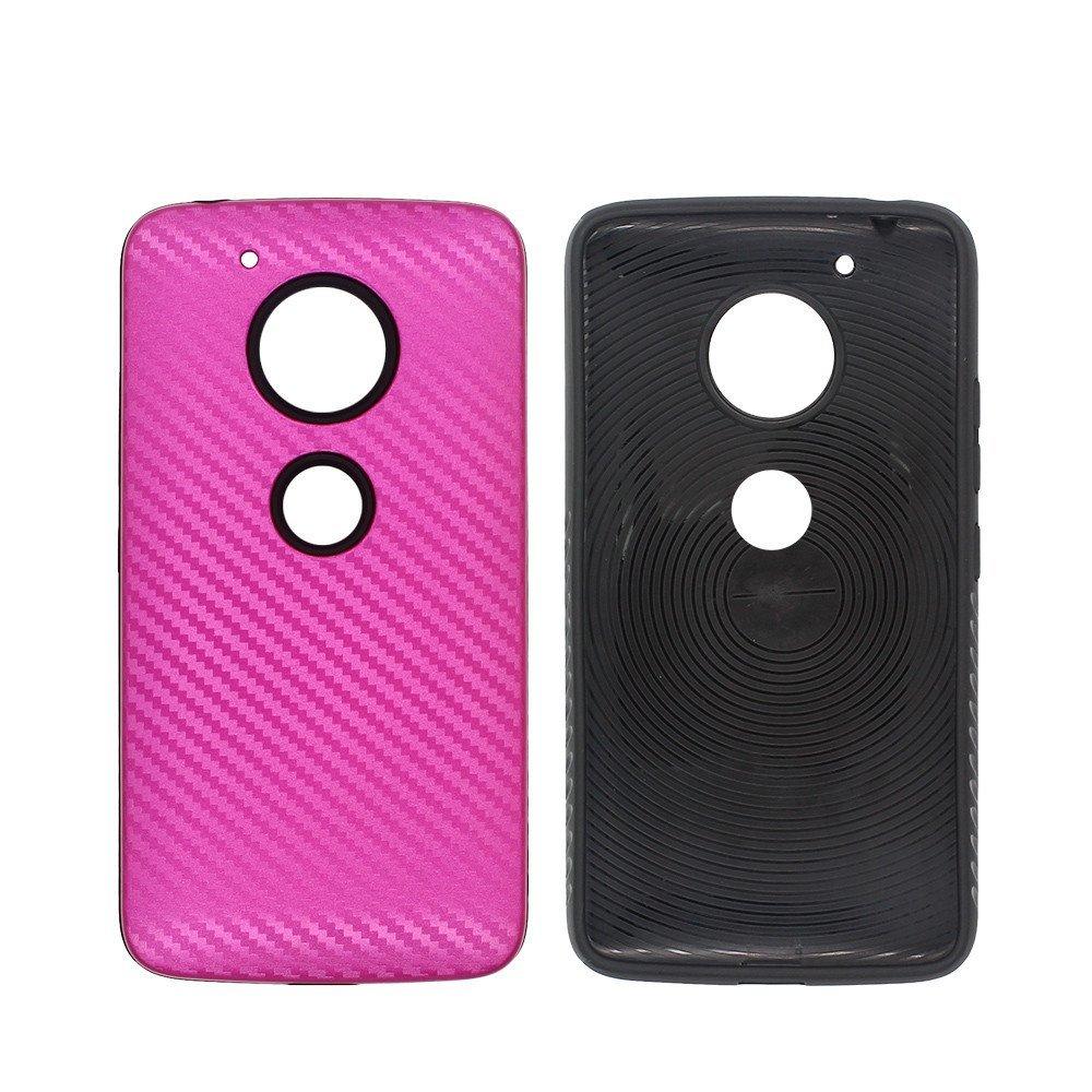 Elegante dos en un caso LG G5 con ranuras de dibujo de fibra