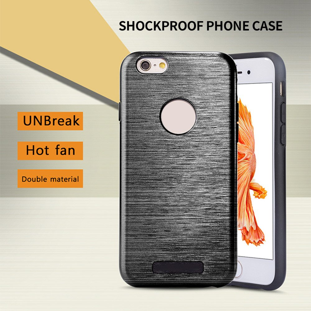 Wire Drawing iPhone 6 Shockproof Combo Phone Case
