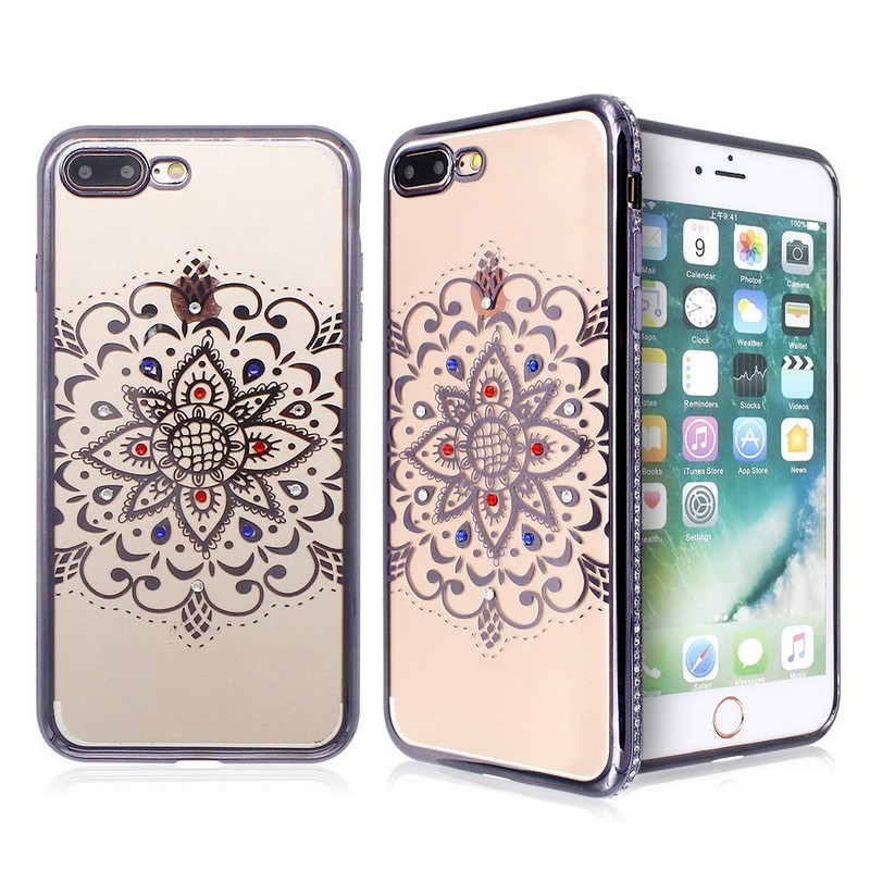 Electroplated iPhone 7 Plus TPU Case with Diamond Decoration