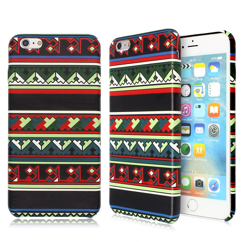 Embossed Ultra Slim Leather Phone Case for iPhone 6 Plus