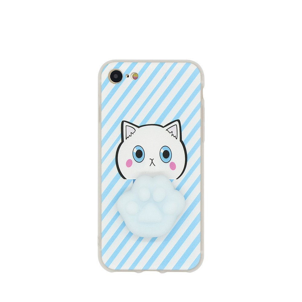 TPU Phone Case for iPhone 7 with Adorable Soft Cat Paw