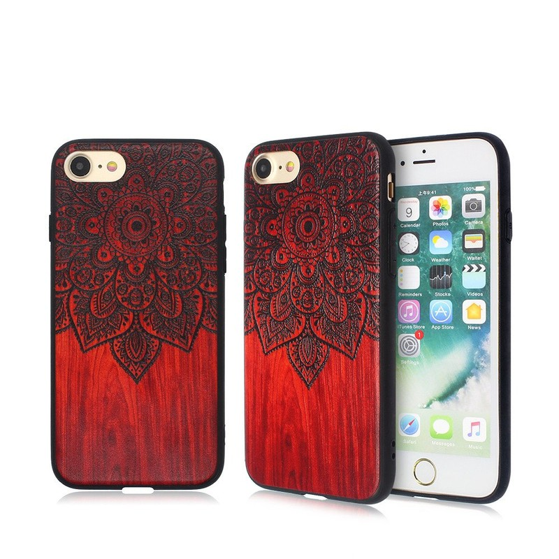 Pretty Phone Case with Embossed Artwork Patterns for iPhone 7